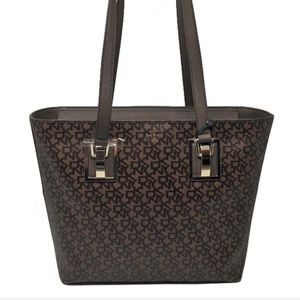 DKNY Town and Country Hardware Logo Tote